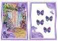 Cottage Garden and Butterflies. Step by Step Decoupage