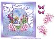 Picking the Flowers Watercolour Decoupage with Butterflies