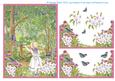 Feeding the Birds in the Wood Step by Step Decoupage Topper