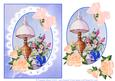 Watercolour Cameo with Lace Victoran Lamp Decoupage Sheet