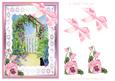 Garden Archway and Black Cat Watercolour Decoupage Sheet