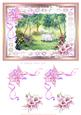 Tea in the Cottage Garden 2 Watercolour Decoupage Sheet