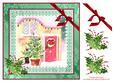 8x8 Christmas Cottage Door Decoupage