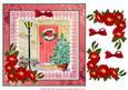 8x8 Red Door in Snow Decoupage Sheet