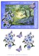 Bluebell Wood and Butterfly Decoupage Topper