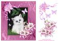 Kitten and Butterflies Decoupage Sheet