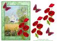 Windmill and Poppies Decoupage Sheet