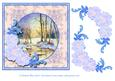 Winter Reflections with Flowers and Swirls Decoupage