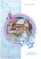 Woodland Cottage in Snow. Over the Edge Mini Decoupage Kit