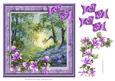 Woodland Glade with Bluebells Decoupage Sheet