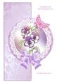 Pansy Over the Edge Circle Card Mini Kit with Decoupage
