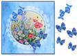 8x8 Silk , Lace and Butterflies Field Flowers Decoupage