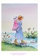Original Watercolour Painting, Stepping Stones