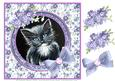 Black and White Kitten with Decoupage