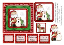 Card criss cross pocket christmas santa by window for Cross in my pocket craft