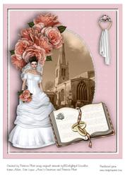 Vintage Bride A4 Card Topper