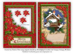 Christmas Birds Aperture Topper and Insert