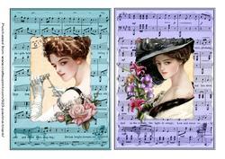 Vintage Music Sheets Jade Lilac