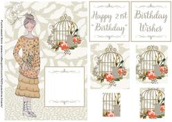 Boho Chic Birdcage Girl Orange