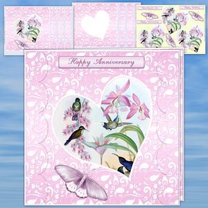 Paisley Heart Pink