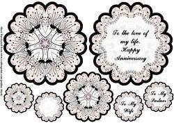 Floral Petals Cream Black