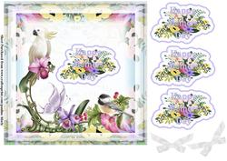 Tropical Birds Mothers Day Lilac