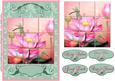 Faux Collage Tiles French Lilies