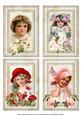 Vintage Lassies Redoute Florals