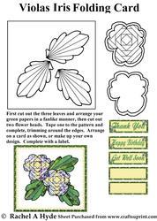 Violas Iris Folding Card