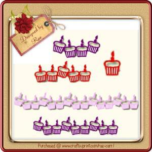 016 Cupcake Borders *SVG*