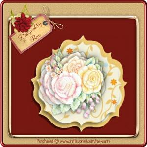 654 Roses & Floral Shaped Topper *studio*