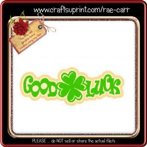 825 Good Luck Topper *studio*