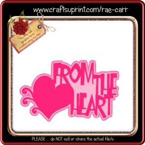 826 from the Heart Valentine Topper *studio*
