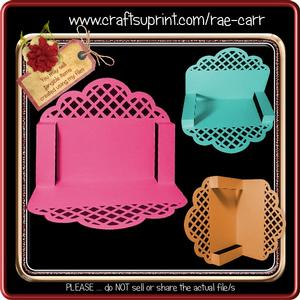 835 Scalloped Folded Card *multiple Machine Formats*