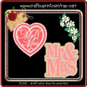 843 Mr & Mrs Layered Toppers *SVG*
