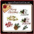 Dr007 Christmas Greeting Embellishments *png*