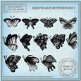 Grayscale Butterflies