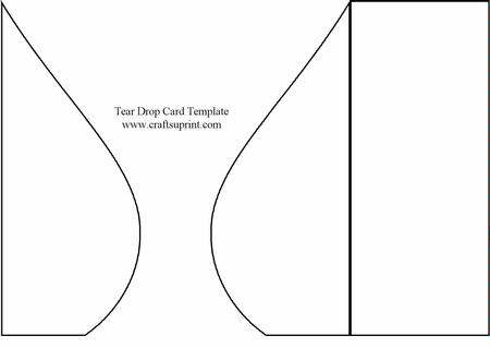 tear drop card template cup12176 1 craftsuprint. Black Bedroom Furniture Sets. Home Design Ideas