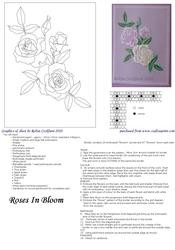 Roses in Bloom Parchment Card