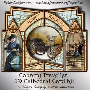 Country Traveller 3D Cathedral Card Kit