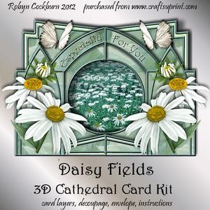 Daisy Fields 3D Cathedral Card Kit