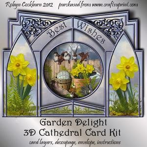 Garden Delight 3D Cathedral Card Kit