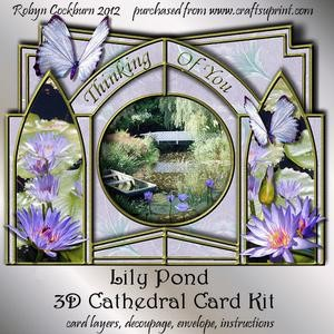 Lily Pond 3D Cathedral Card Kit
