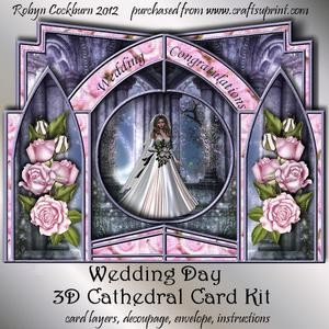 Wedding Day 3D Cathedral Card Kit