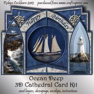 Ocean Deep 3D Cathedral Card Kit