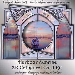 Harbour Sunrise 3D Cathedral Card Kit