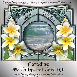 Paradise 3D Cathedral Card Kit