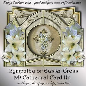 Sympathy or Easter Cross 3D Cathedral Card Kit
