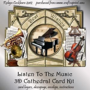 Listen to the Music 3D Cathedral Card Kit