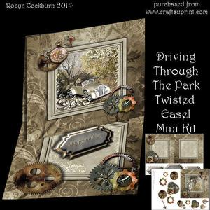 Driving Through the Park Twisted Easel Mini Kit